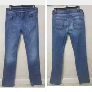 7 For All Mankind Jeans Carol Blue Straight Denim